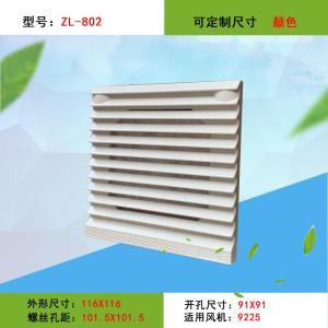 風機百葉窗 電箱通風散熱罩 通風過濾網組ZL802 92*92風扇防塵罩