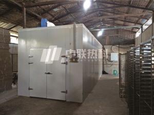 烟台中联热科杏干空气能无需燃烧煤炭网带式干燥生产线