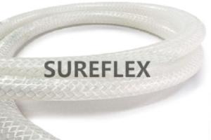 鉑金硫化玻纖網紋硅膠管