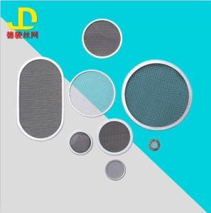 定制異型  過濾網片圓形 包邊過濾網片不銹鋼 沖壓網濾片 304316