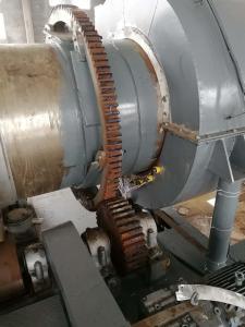 高温旋转煅烧回转窑,回转煅烧滚筒 工作原理
