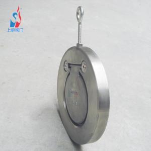H74H对夹圆片式止回阀 薄型304不锈钢单向直通式止回阀