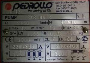 意大利佩德罗PEDROLLO水泵