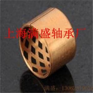 FB08G青銅基體板材石墨潤滑卷制軸承開口縫襯套