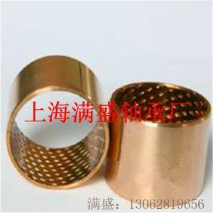 FB090錫青銅板材菱形油穴儲油潤滑青銅卷制開口襯套