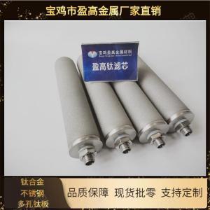 銷售多孔鈦粉末燒結濾芯藥液澄清過濾用