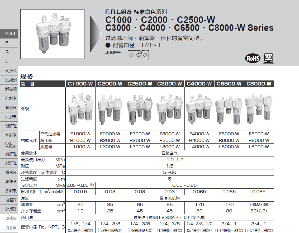 C2500-10-W   CKD過濾器氣動三聯件